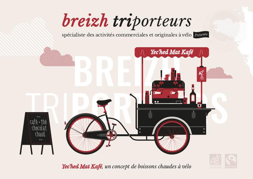Fiche de présentation concept de triporteur café nomade Recto