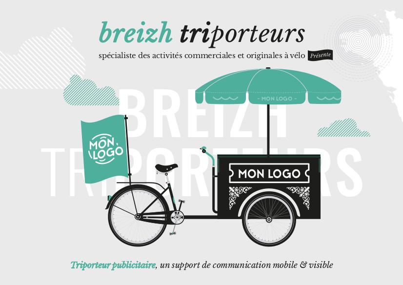 Triporteur publicitaire Breizh triporteurs