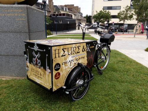 Prestation de street marketing en triporteur pour Heure & K 09