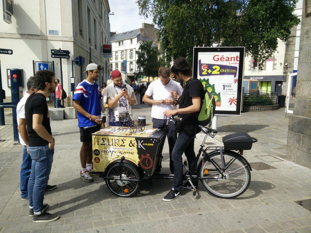 Prestation de street marketing en triporteur pour Heure & K 07