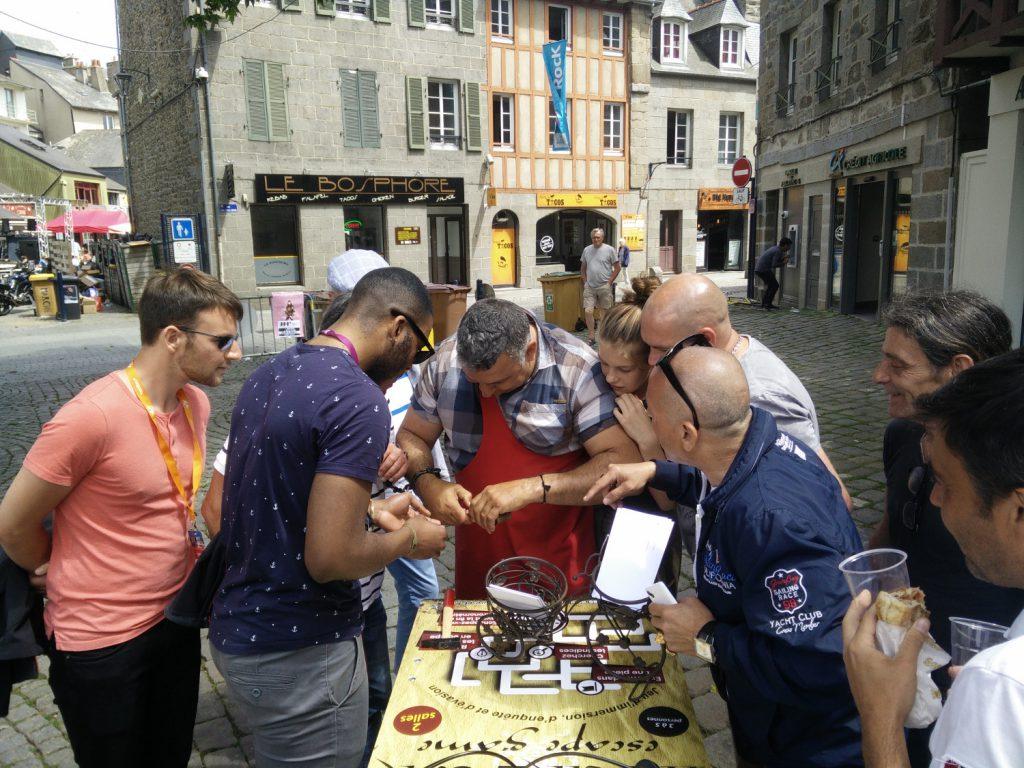 Prestation de street marketing en triporteur pour Heure & K 03