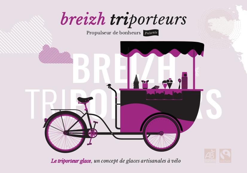 Illustration du triporteur glace de BREIZH TRIPORTEURS