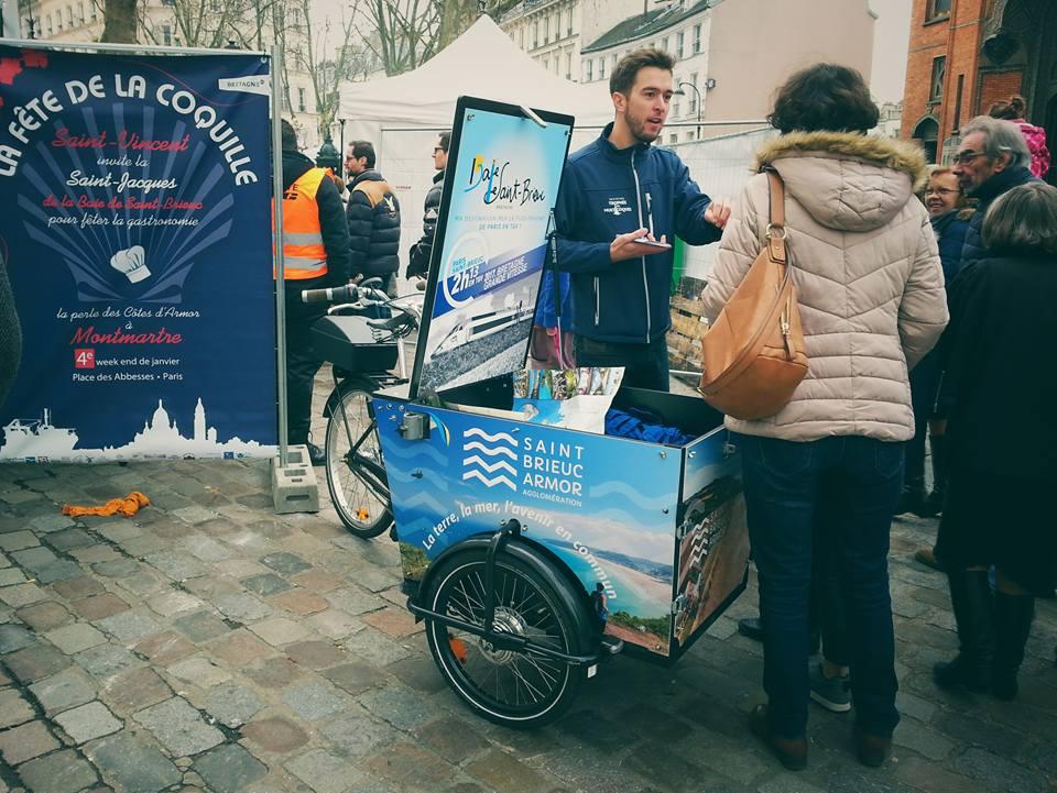 Campagne publicitaire à Paris dans le cadre de l'ambition nautique du territoire
