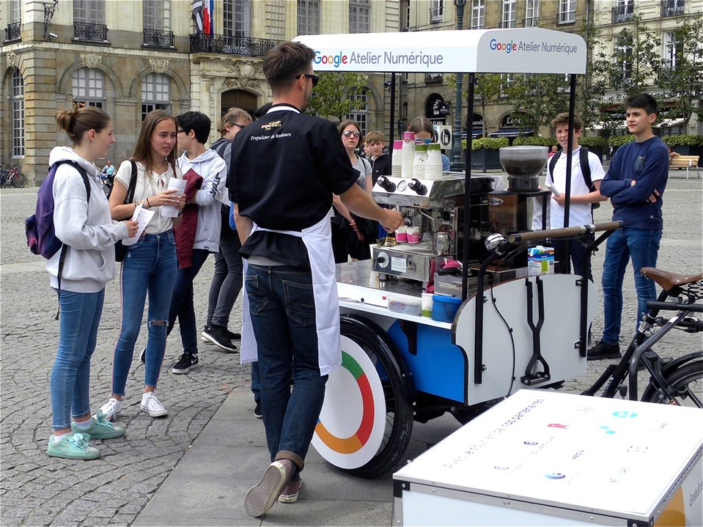 Campagne de marketing terrain pour Google Rennes