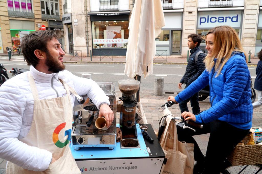 Streetmarketing avec triporteur