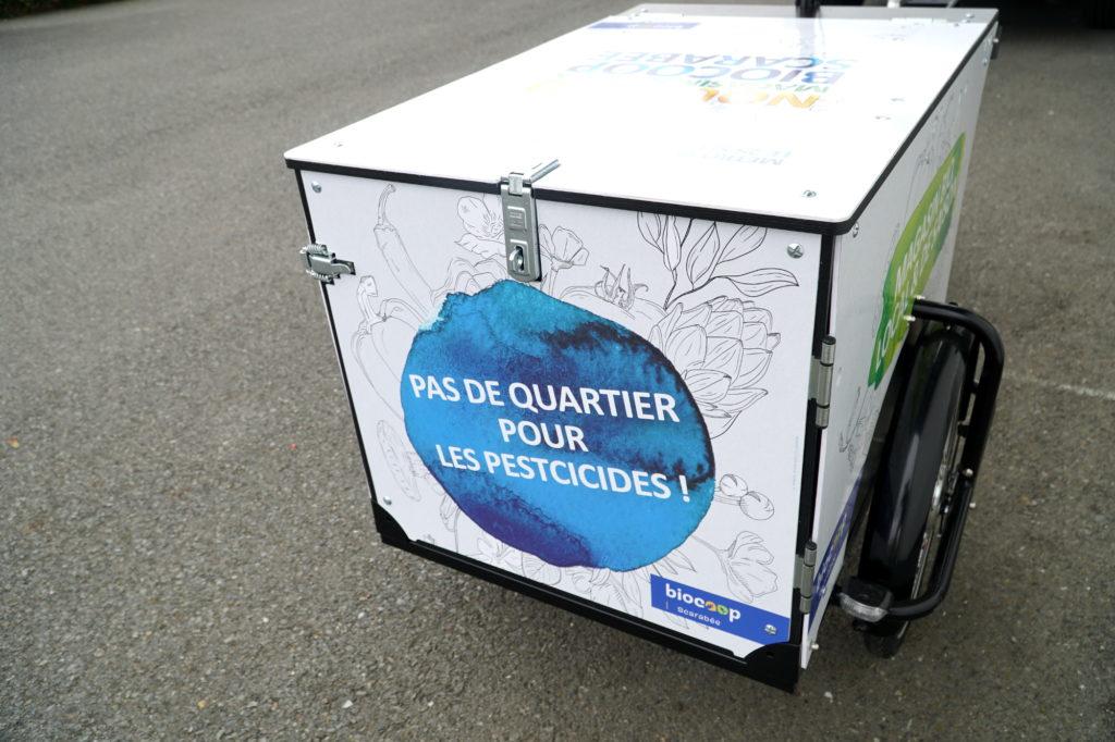 Triporteur publicitaire pour du streetmarketing à Rennes