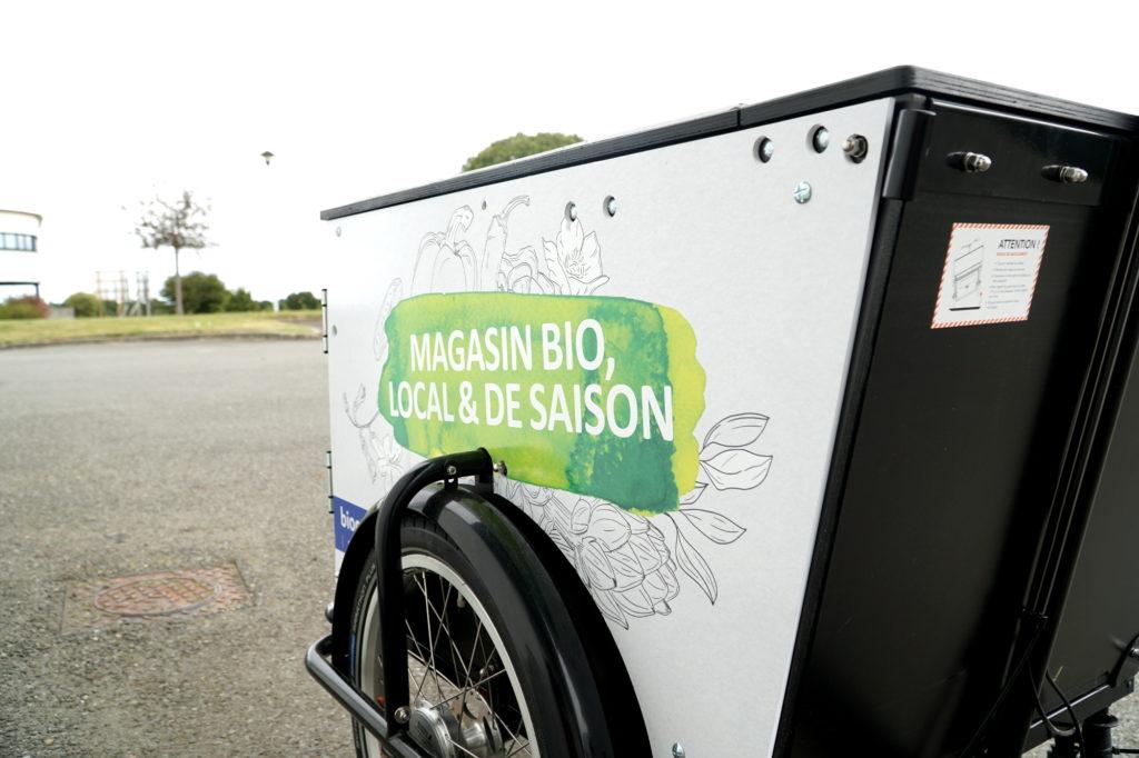 Location de triporteur publicitaire Biocoop à Rennes