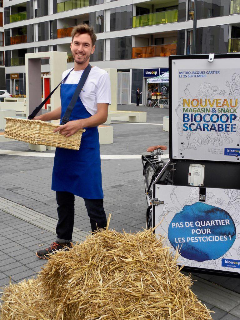 Campagne de streetmarketing pour la biocoop
