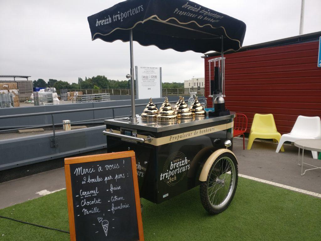 Installation du charriot à glace à Ikea Nantes